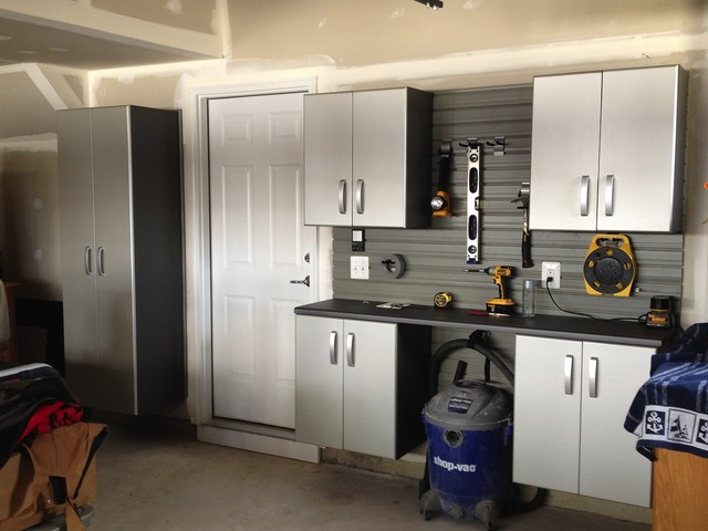 Cordless Shop Vac Garage and Shed Contemporary with Cabinetry Cabinets Garage Home