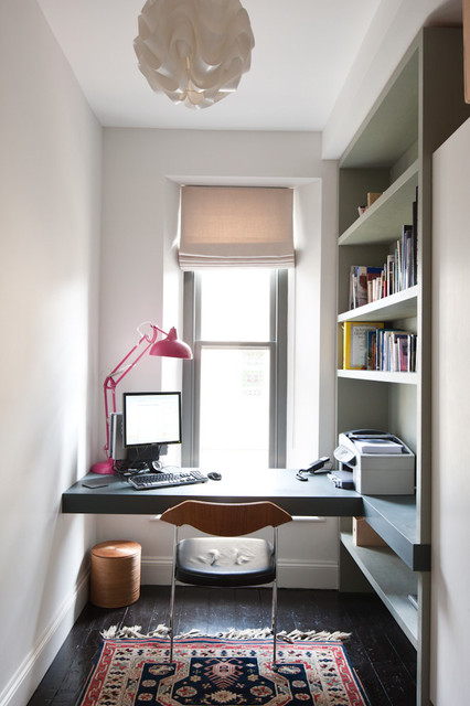 Corner Computer Desk with Hutch Home Office Contemporary with Built in Desk Built in Shelves