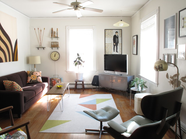 Corner Tv Stand Ikea Living Room Midcentury with Area Rug Ceiling Fan