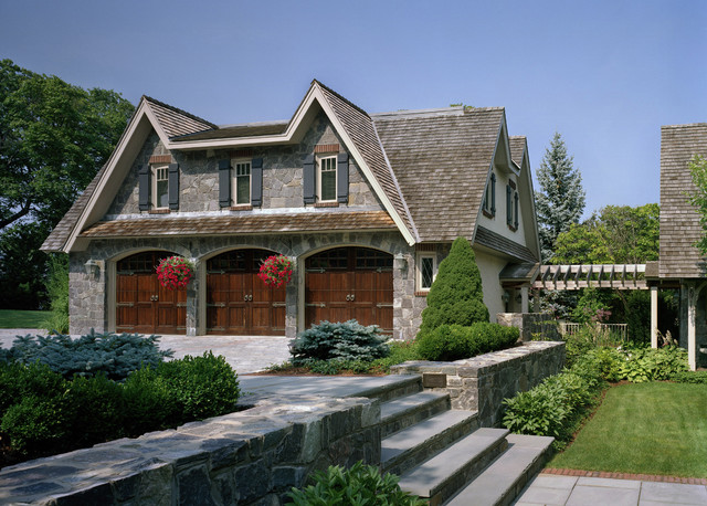 Costco Garage Doors Garage and Shed Traditional with Arbor Brick Triming Walkway