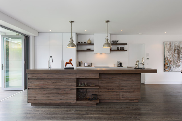 Costco Laminate Flooring Kitchen Contemporary with Accordion Doors Floating Shelves