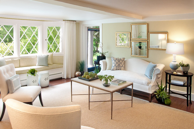 couch slip cover Living Room Contemporary with bay window beach house