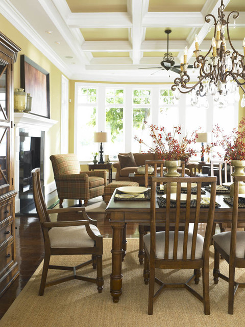 Crystal Decanter Set Dining Room Eclectic with Ceiling Centerpiece Coffered Ceiling