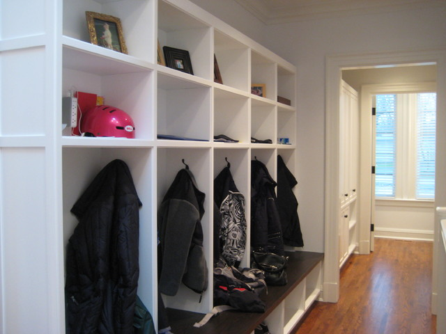 Cubby Shelves Hall Traditional with Built Ins Closets Coat