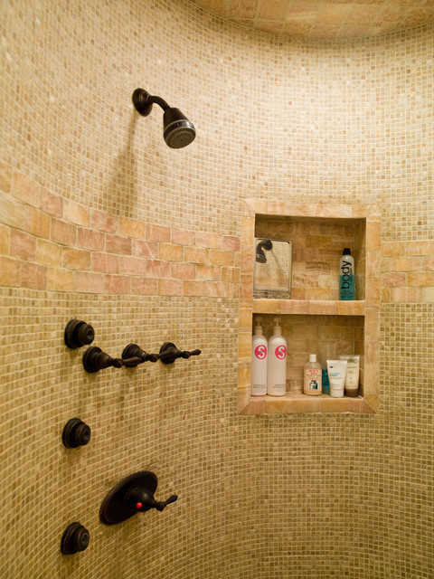 Cubicle Shelf Bathroom Contemporary with Bath Fixtures Built In