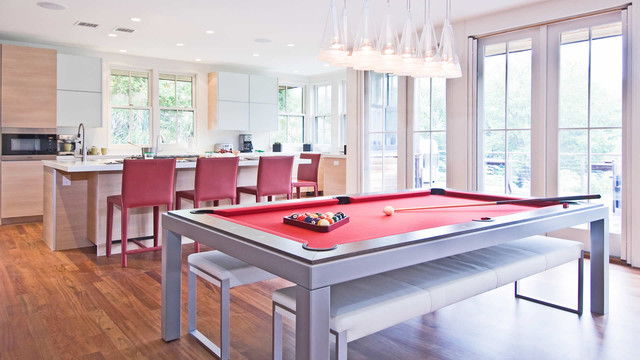 Custom Pool Table Felt Kitchen Contemporary with Bench Seats Contemporary Pool