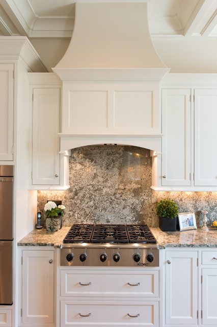 Dacor Cooktop Kitchen Traditional with Backsplash Countertops Crown Molding