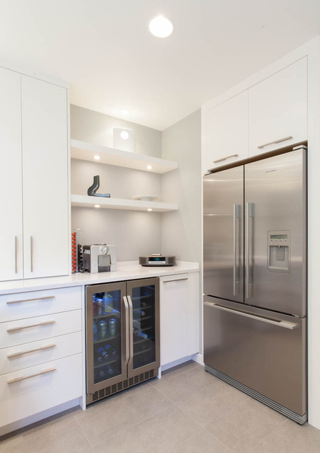 Danby Chest Freezer Kitchen Contemporary with Beverage Cooler Floating Shelves