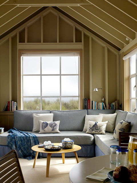 Darby Furniture Living Room Beach with Beach House Blue Couch