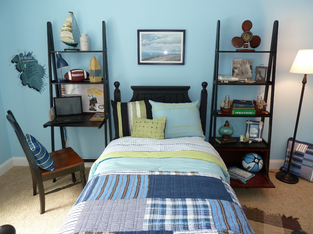 Deco Breeze Kids Contemporary with Bed Pillows Bedroom Blue