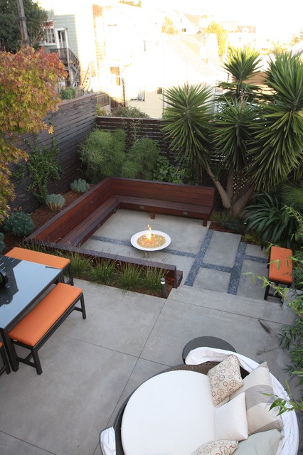 Dedon Furniture Patio Modern with Built in Bench Built