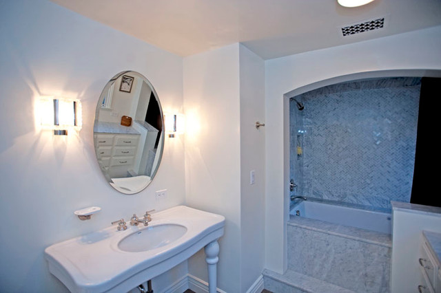 Delta Tub Faucet Bathroom Traditional with Cabinets Coffered Ceiling Kitchen