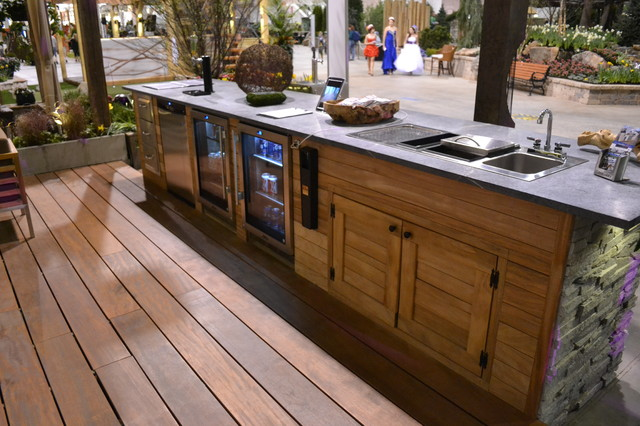 dual tap kegerator Spaces Contemporary with bar bbbq beverage chicago