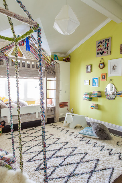 Eames Elephant Kids Transitional with Area Rug Bedroom Bunk