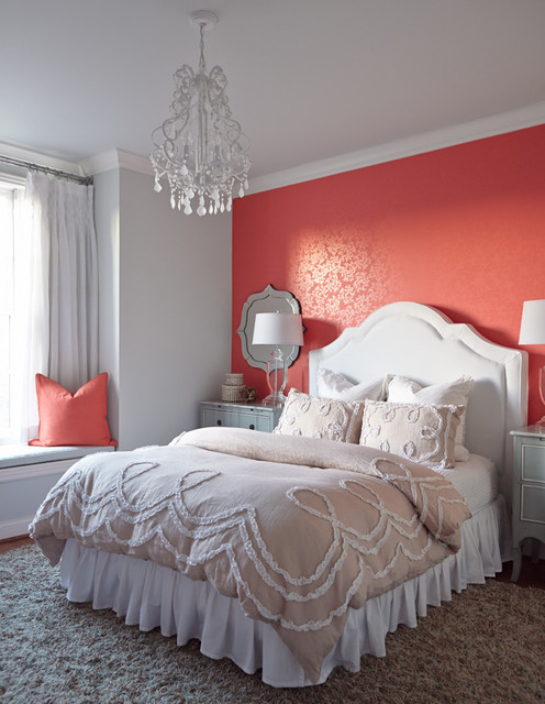 Eastern Accents Bedding Bedroom Transitional with Accent Wall Blue Walls