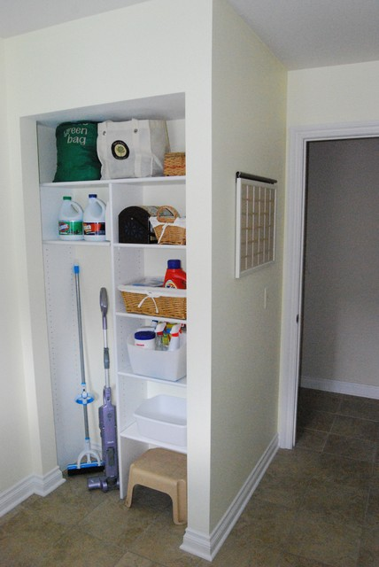 Electrolux Cordless Vacuum Laundry Room Traditional with Bright Cheerful Laundry Room