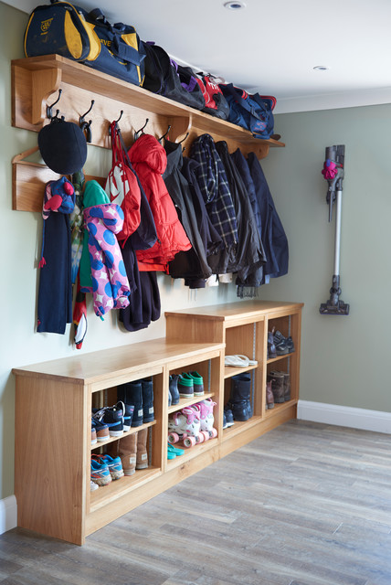 Electrolux Cordless Vacuum Laundry Room with Bespoke Boot Room Design