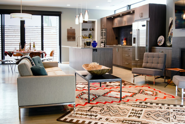 Elephant Bookends Kitchen Contemporary with Aztec Rug Contemporary Design