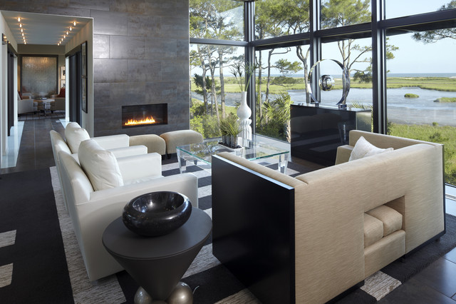 Empire Fireplaces Living Room Modern with Area Rug Arm Chair