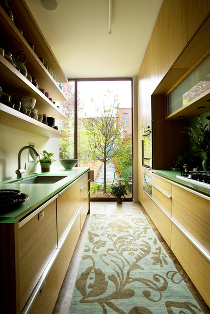 Epoxy Resin Countertops Kitchen Contemporary with Acrylic Bamboo Cabinets Floating