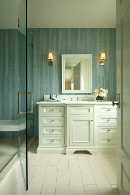 Eurofase Bathroom Traditional with Bathroom Cabinetry Shower Wall