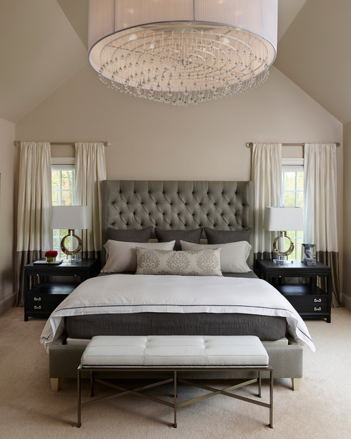 Eurofase Bedroom Transitional with Circle Lamp Crystal Drum