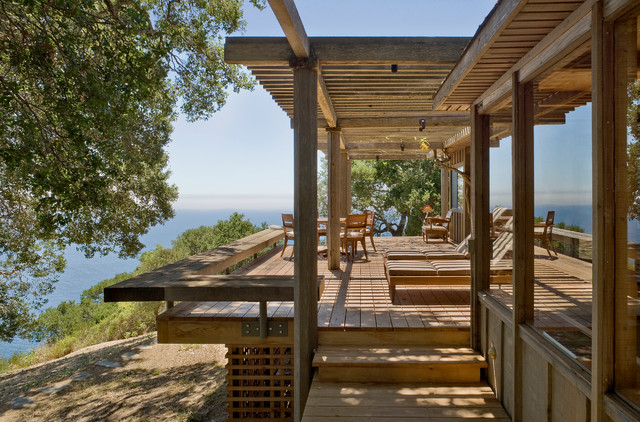evergrain decking Deck Rustic with big sur board and
