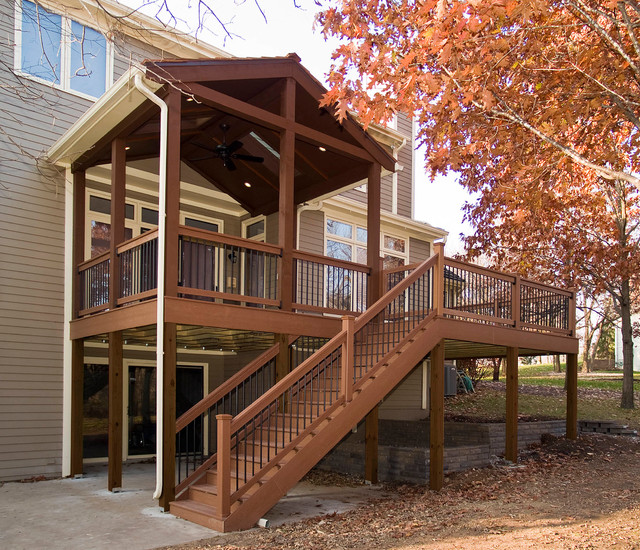 Evergrain Decking Deck Traditional with Covered Porch Evergrain Composite