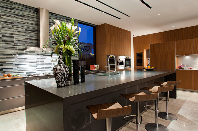 Exotic Car Rental Las Vegas Kitchen Contemporary with Counter Stools Kitchen Island