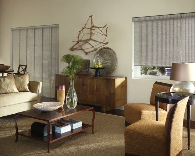 Fabric Vertical Blinds Living Room Traditional with Blind Coffee Table Credenza