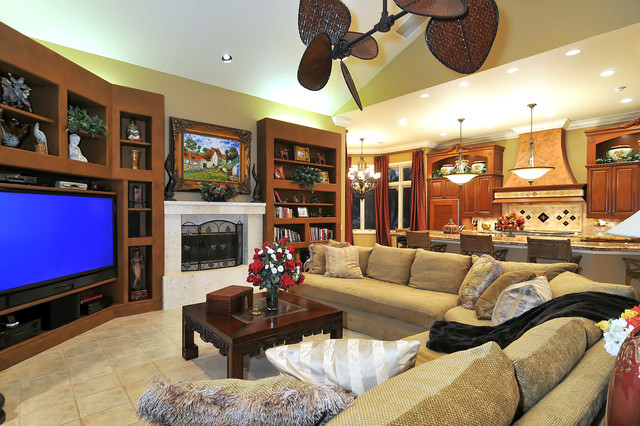 Fanimation Fans Family Room Tropical with Bowl Chandelier Ceiling Fan