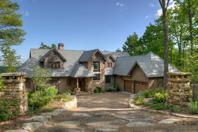 Faux Rock Siding Exterior Traditional with Boulders Brown Exterior Brown