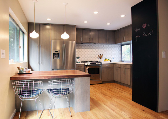 Faux Succulents Kitchen Contemporary with Bosch Caesarstone Grey Cabinets