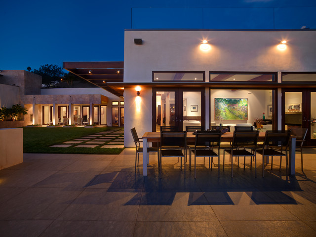 Fire Pit Propane Patio Contemporary with Chiseled Stone Exposed Beams