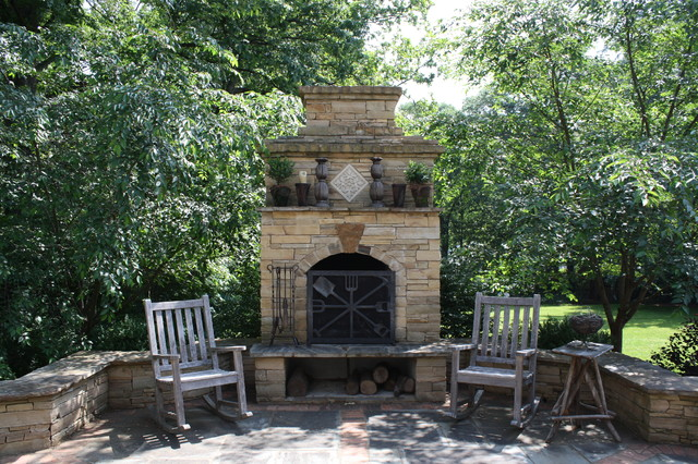 Fireplace Grate Patio Traditional with Bluestone Chimney Fireplace Grate