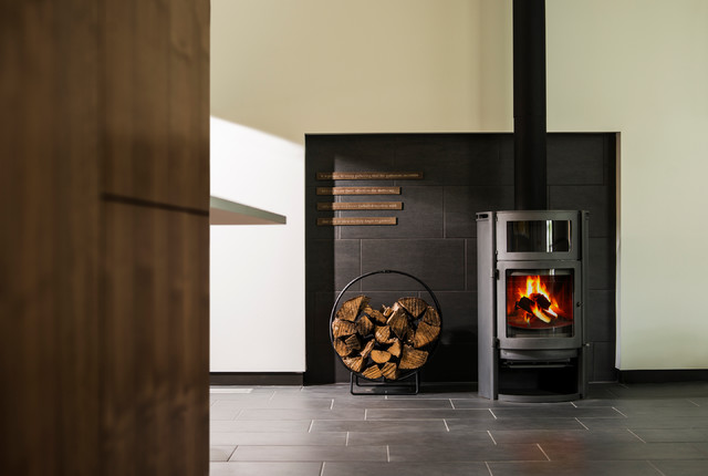 Firewood Carrier Living Room Contemporary with Architecture Fire Fireplace House