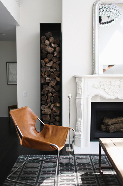 Firewood Holder Living Room Transitional with Decorative Firewood Firewood Storage