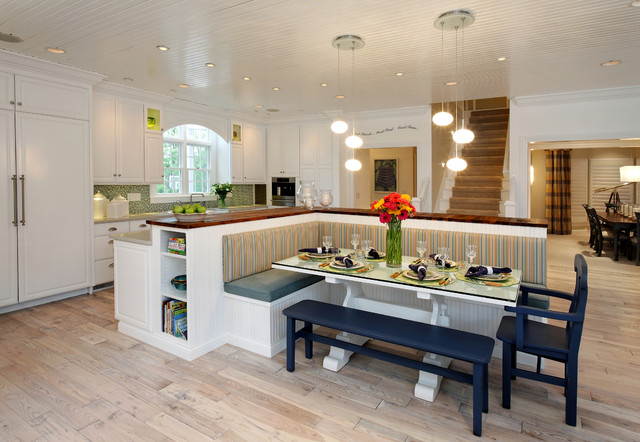 First Alert Sc9120b Kitchen Contemporary with Banquette Beadboard Beadboard Ceiling
