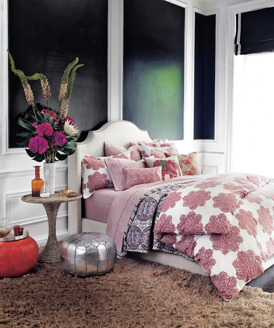Flameless Taper Candles Bedroom Eclectic with Floor Cushions Wainscoting