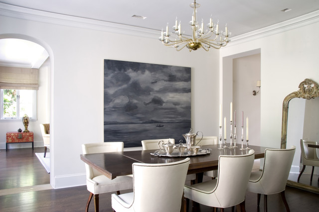 Flatware Chest Dining Room Transitional with Arch Baseboards Candlesticks Ceiling