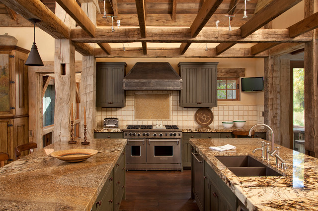 Flood Vents Kitchen Rustic with Gray Painted Cabinets Kitchen