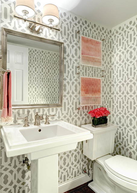 Florist Greensboro Nc Powder Room Transitional with Abstract Art Baseboards Bathroom