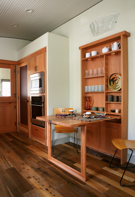 Foldable Picnic Table Kitchen Contemporary with Beige Wall Curved Ceiling