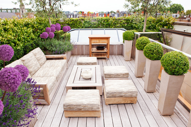 Fowlers Furniture Deck Contemporary with Beautiful Roof Terrace Beige