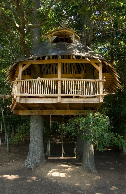 Fprh19d7lf Kids Tropical with Balcony Branches Cone Roof