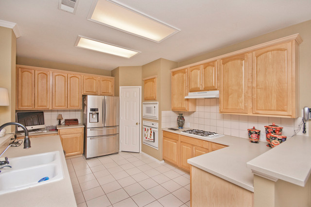 Fresh Coat Painters Kitchen Traditional with Beige Countertop Beige Wall