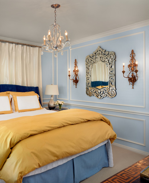 Frette Linens Bedroom Traditional with Blue and Yellow Blue