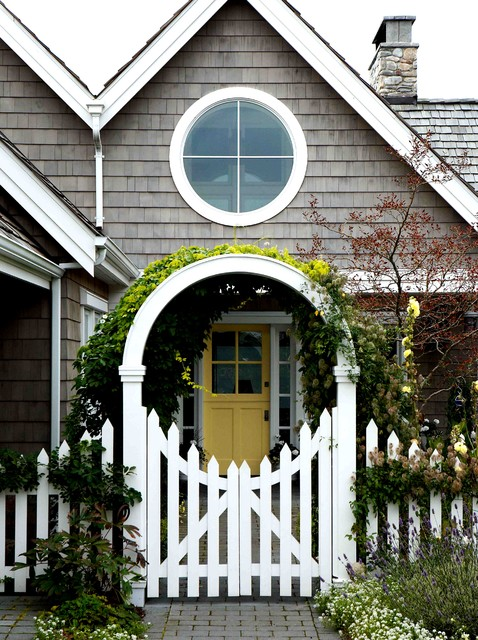 Frogtape Landscape Victorian with Archway Climbing Plants Entry