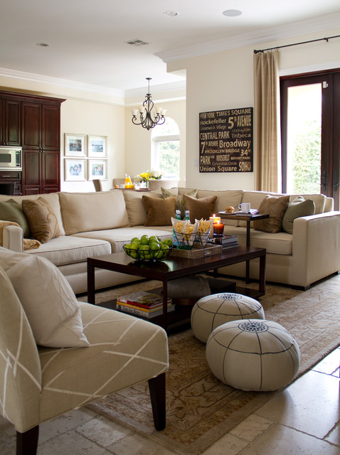 Frontgate Rugs Family Room Traditional with Armchair Chandelier Coffee Table