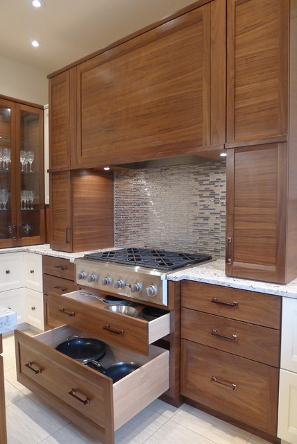 Ge Cooktop Kitchen Contemporary with Appliance Garage Aventium Oven